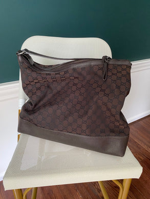 Gucci Brown GG canvas hobo
