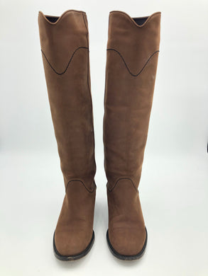 Chanel Suede Tall Riding boots