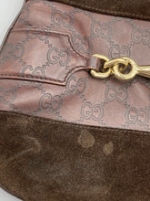 Load image into Gallery viewer, Gucci Suede Horsebit Hassler Hobo shoulder bag