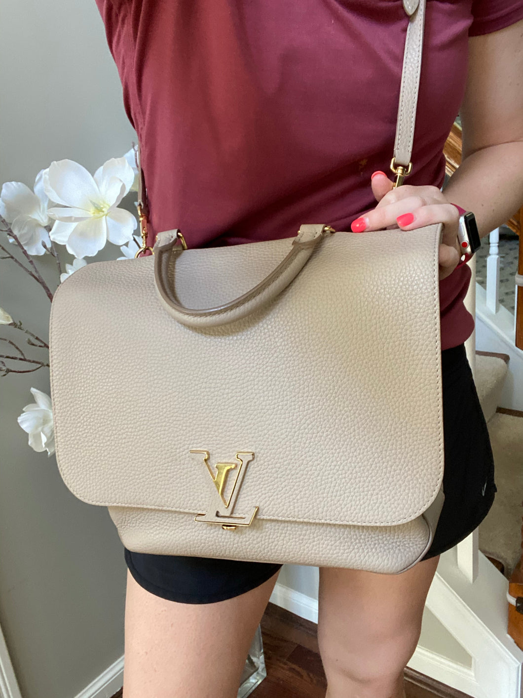 Louis Vuitton Volta Leather handbag with strap