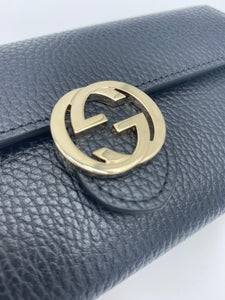 Gucci Black Continental Snap wallet