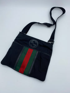 Gucci Web Nylon messenger bag