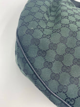 Load image into Gallery viewer, Gucci GG print green hobo