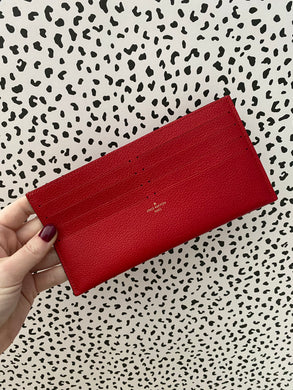 Louis Vuitton credit card pouch red