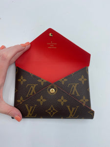 Louis Vuitton Kirigami Medium monogram pouch with red interior