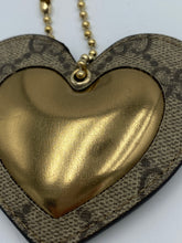 Load image into Gallery viewer, Gucci GG print heart bag charm