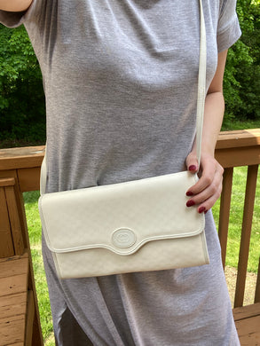 Gucci Vintage white GG print bag