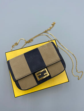 Fendi Nano Pequin chain bag/accessory bag charm