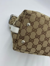 Load image into Gallery viewer, Gucci Medium Match Ball white and gg canvas tote