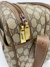 Load image into Gallery viewer, Gucci Vintage GG Web weekender bag