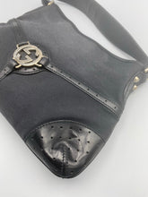 Load image into Gallery viewer, Gucci Black Reins Perforated shoulder bag