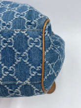 Load image into Gallery viewer, Gucci Denim Sukey tote with charm