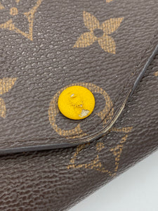 Louis Vuitton Josephine wallet with yellow interior