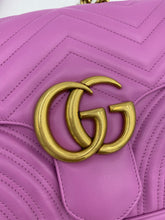 Load image into Gallery viewer, Gucci Medium GG Marmont Flap Bag