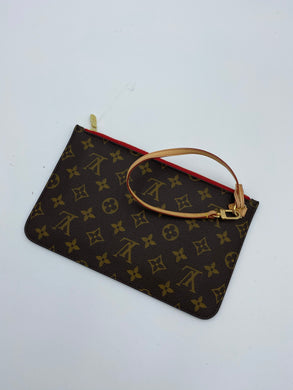 Louis Vuitton Neverfull pouch w/ red - 1