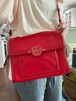 Tory Burch Leather Flap bag