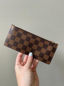 Louis Vuitton small zip coin pouch ebene