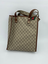 Load image into Gallery viewer, Gucci Web Loop GG print Tall tote