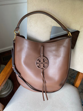 Tory Burch Miller Logo hobo with strap