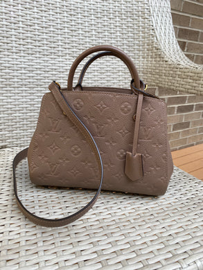 Louis Vuitton Montaigne BB empreinte with strap