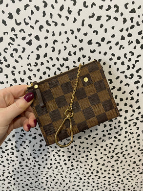 Louis Vuitton ebene zip keychain pouch