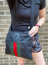 Load image into Gallery viewer, Gucci Web Nylon messenger bag
