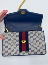 Load image into Gallery viewer, Gucci Web Clutch with chain strap