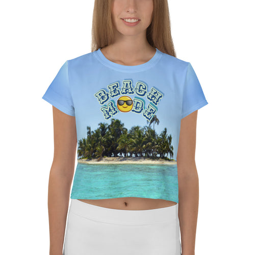 Beach funny summer All Over Print Crop Tee