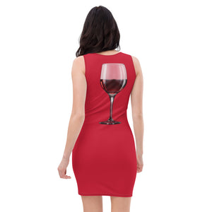 Sublimation Cut & Sew Dress red wine