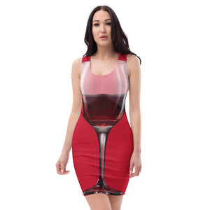 Sublimation Cut & Sew Dress all over red (wine2)