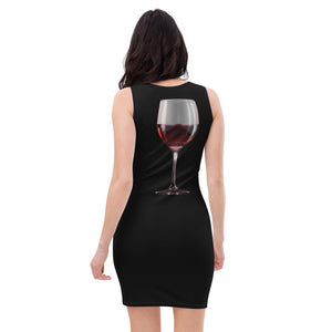 Sublimation Cut & Sew Dress black all over (wine)