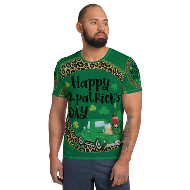 All Over Saint Patrick's Print Men's Athletic T-shirt