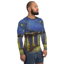 Load image into Gallery viewer, All over Men's Rash Guard Arte VanGogh