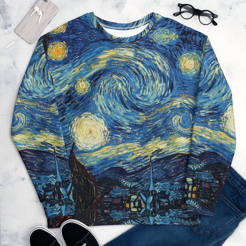 All over Arte Van Gogh Unisex Sweatshirt