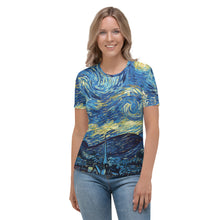 Load image into Gallery viewer, Women's T-shirt all over Arte Van Gogh