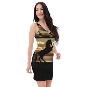 Sublimation Cut & Sew Dress all over christmas horse