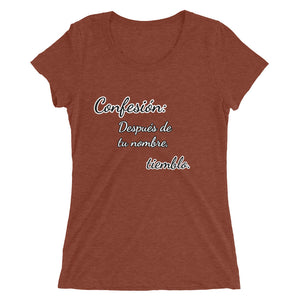 Ladies' short sleeve t-shirt Romance