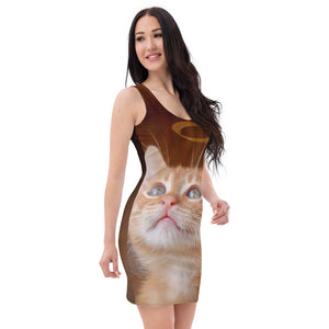 Sublimation Cut & Sew Dress Christmas cat