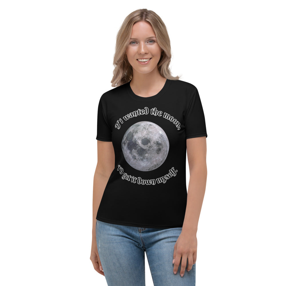 Women's T-shirt all over moon