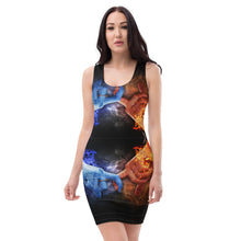 Load image into Gallery viewer, Sublimation Cut & Sew Dress all over water fire