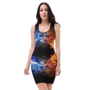 Sublimation Cut & Sew Dress all over water fire