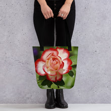 Load image into Gallery viewer, Tote bag all over flower