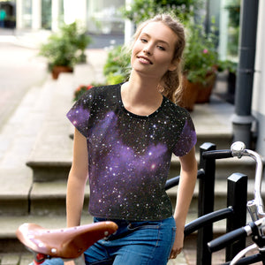 All-Over Print Crop Tee space
