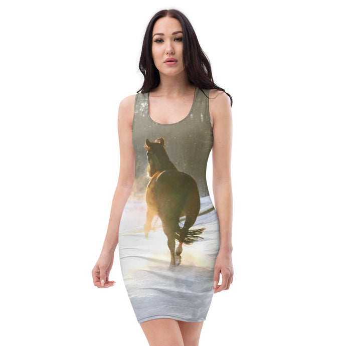 Sublimation Cut & Sew Dress Christmas horse