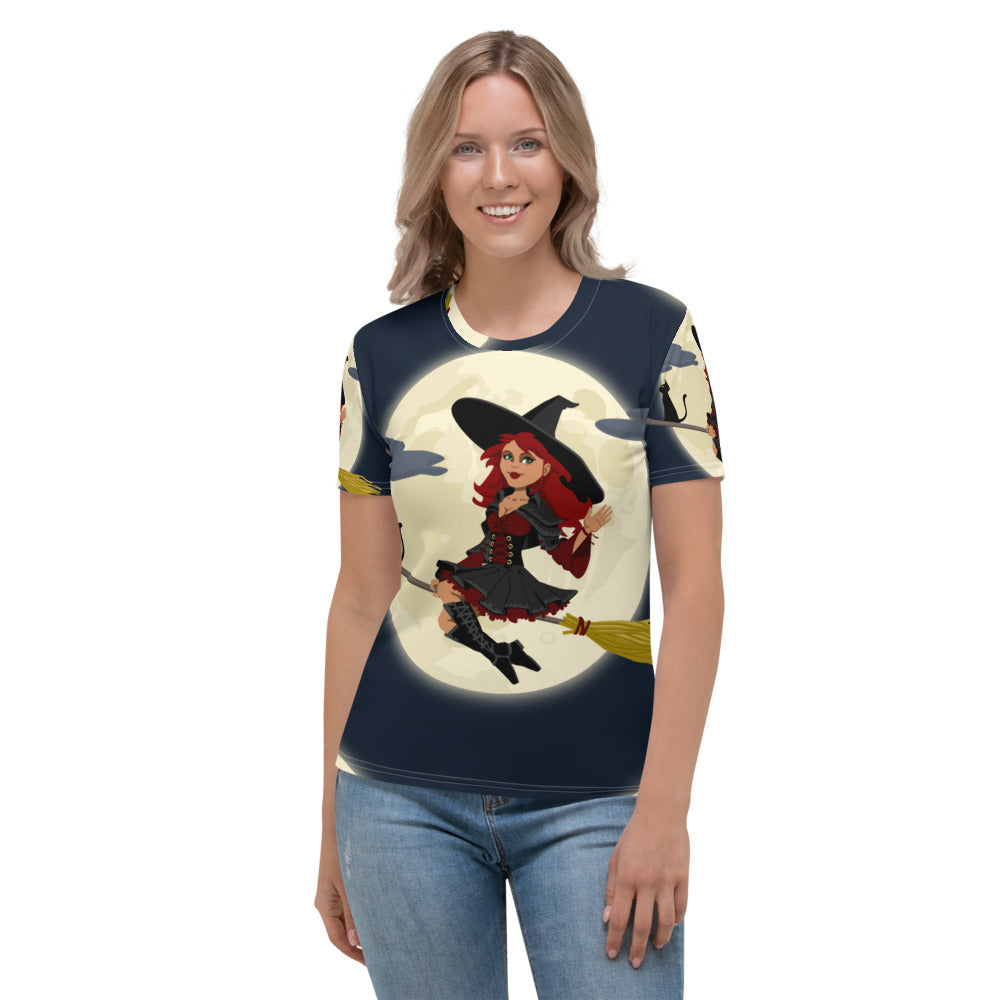 Women's T-shirt all over witch