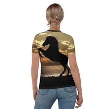 Load image into Gallery viewer, Women's T-shirt all over (horse)