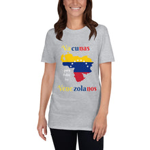 Load image into Gallery viewer, Short-Sleeve Unisex T-Shirt Vacunas Vzla.
