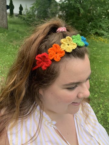 Pride Flower Crown/Headband - Yarnover by Lex