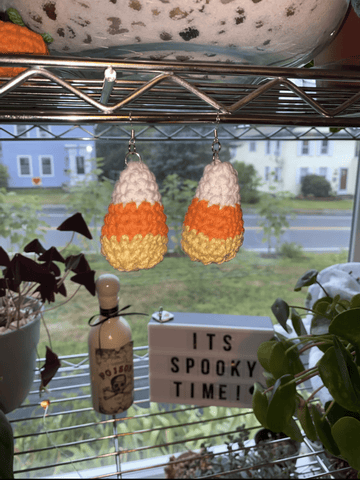 Candy Corn Earrings - Yarnover by Lex