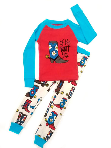 If The Boot Fits Girl Toddler PJ Set
